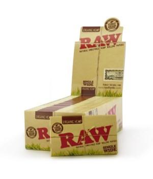 RAW® ORGANIC HEMP SINGLE WIDE DOUBLE - 25'S