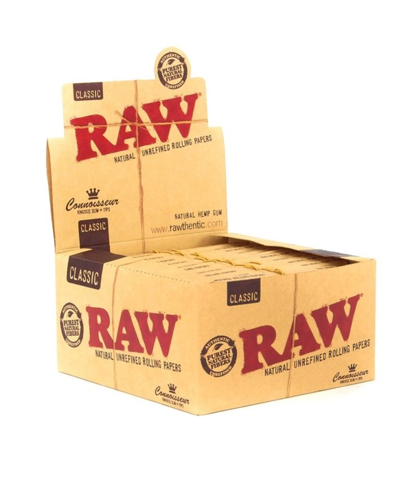 RAW® CLASSIC CONNOISSEUR KING SIZE SLIM + TIPS 24'S