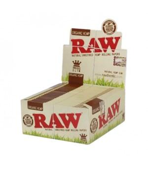 RAW® KING SIZE ORGANIC HEMP PAPER 50'S