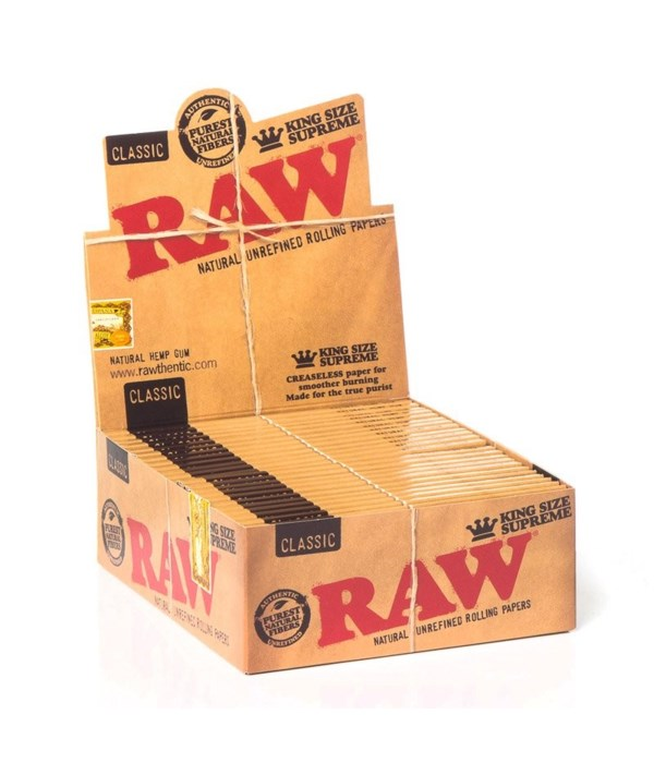 RAW® CLASSIC KING SIZE SUPREME PAPER 24'S