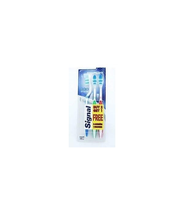 SIGNAL® TOOTHBRUSH FIGHTER- SOFT 24 X 3PK-   (ITEM# 67353385)