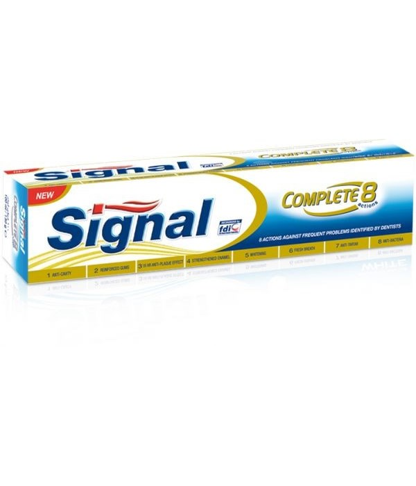 SIGNAL® TOOTH PASTE 100 ML- COMPLETE 8 ACTIONS GOLD- 72/CS