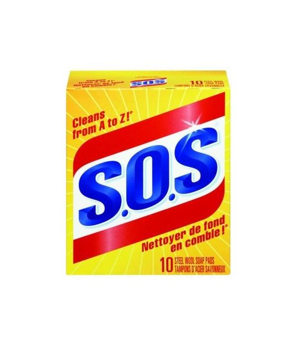 SOS SOAP PADS 6 X 10'S - REGULAR (01346)