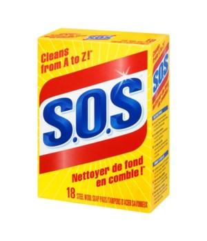 SOS SOAP PADS 12 X 18'S - REGULAR