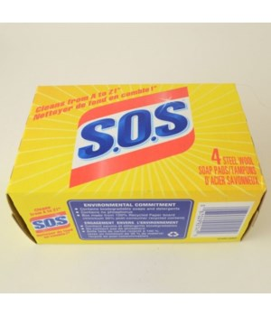SOS SOAP PADS 24 X 4'S