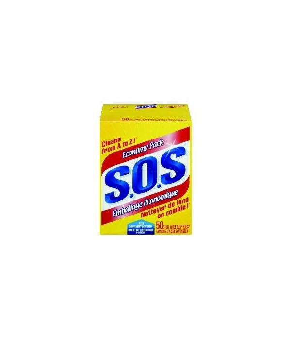 SOS SOAP PADS 8 X 50'S (92162)