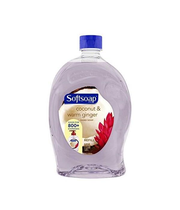 SOFT SOAP® 56 OZ - REFILL - COCONUT & GINGER 6/CS