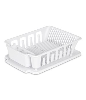 DISH DRAIN WITH BOARD LG WHITE 6PK