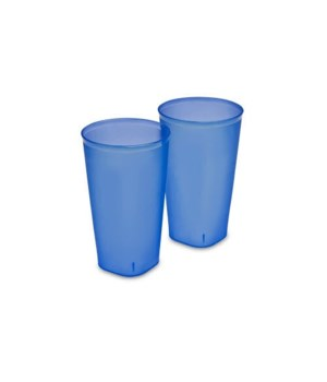 TUMBLER 2PC 32OZ 8 PACK- BLUE TINT