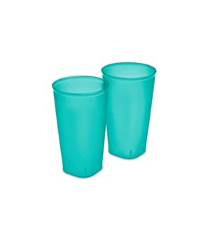 TUMBLER 2PC 32OZ 8 PACK- GREEN GLZ TINT
