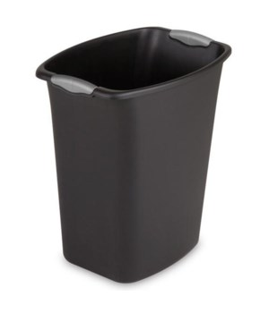 WASTE BASKET REC 5 GAL BLACK 6 PK