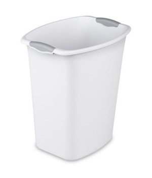 WASTE BASKET REC 5 GAL WHITE 6 PK