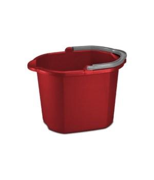 16 QT DBL SPOUT PAIL- CLASSIC RED 6PK