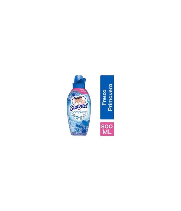 SUAVITEL® COMPLETE FABRIC SOFTENER 800 ML- FRESCA PRIMAVERAL- BLUE (FRESH SPRING)- 12/CS