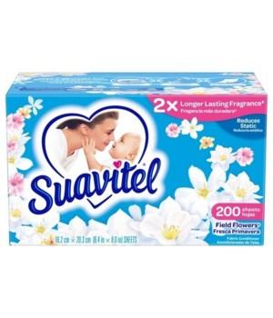 SUAVITEL® DRYER SHEET - SP FIELD FLOWERS BLUE 200CT - 4/CS (4121A)