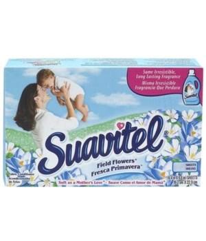 SUAVITEL® DRYER SHEET - SP FIELD FLOWER 20CT -(BLUE) 15/CS