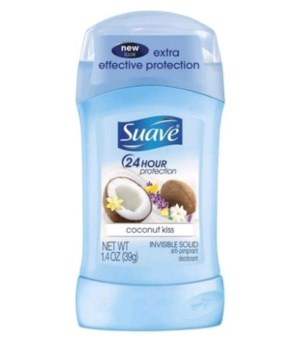 SUAVE® 1.4 OZ - INV/SOLID COCONUT KISS- 12/CS