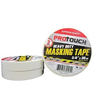 "PRO TOUCH® MASKING TAPE HEAVY DUTY 2 PACK 3/4"" X 30 YD  48/CS"