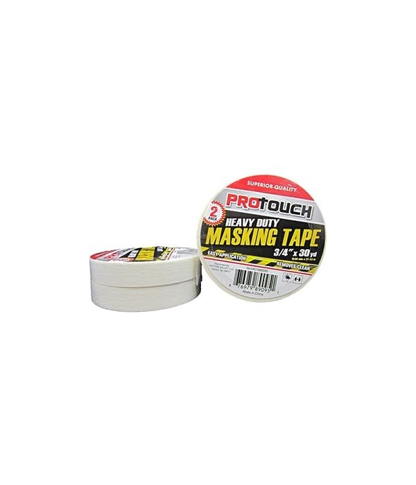 """PRO TOUCH® MASKING TAPE HEAVY DUTY 2 PACK 3/4"""" X 30 YD  48/CS"""