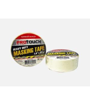 "PRO TOUCH® MASKING TAPE HEAVY DUTY 1.4"" X 30 YD  48/CS"
