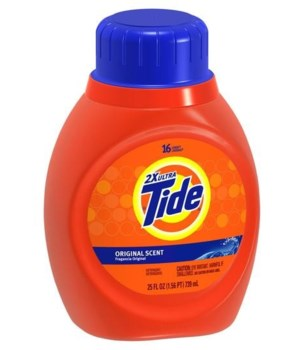 TIDE® DETERGENT LIQUID 25 OZ - REGULAR - 6/CS (37000-13875)