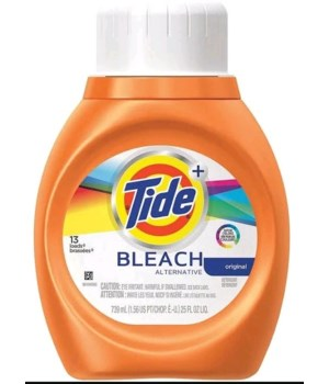 TIDE® DETERGENT LIQUID 25 OZ - W/BLEACH - 6/CS