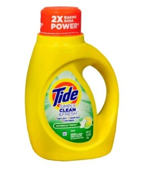 TIDE® DETERGENT LIQUID 40 OZ - SIMPLY CLEAN DYE FREE DAY BREAK CLEAN & FRESH - 6/CS