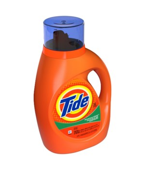 TIDE® DETERGENT LIQUID 37oz (1.09 L)- MOUNTAIN SPRING 24 LOADS- 6/CS