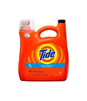 TIDE® DETERGENT LIQUID 150 OZ - HE CLEAN BREEZE 96 LOAD - 4/CS (37000-230663)