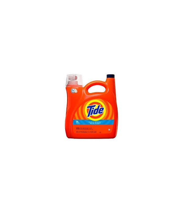 TIDE® DETERGENT LIQUID 150 OZ - HE CLEAN BREEZE 96 LOAD - 4/CS (37000-230663)