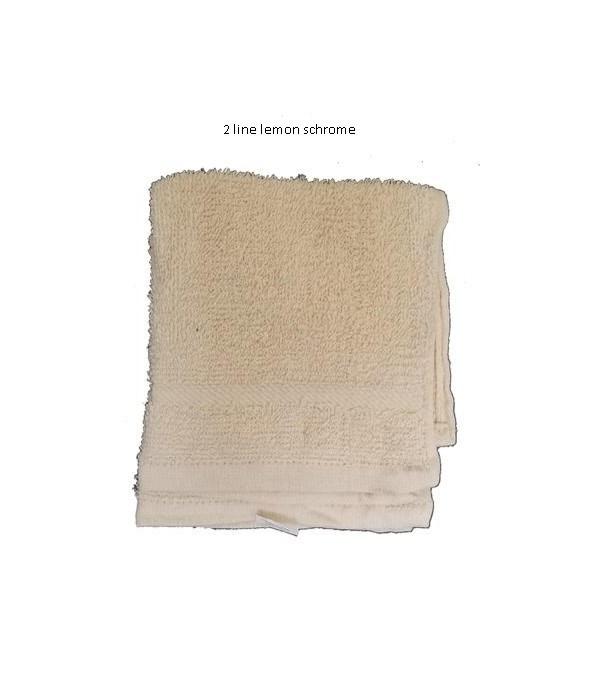 2PK CLEANING CLOTH- SIZE: 12'' X 12'' - 2 LINE- LEMON SCHROME- 72 X 2PK/CS