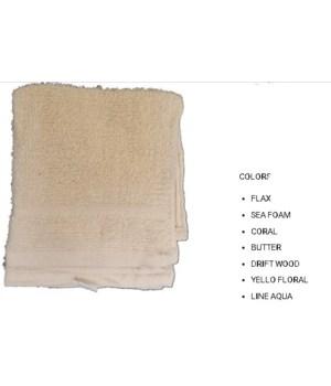 2PK CLEANING CLOTH- SIZE: 12'' X 12'' - 1 LINE- FLAX- 72 X 2PK/CS