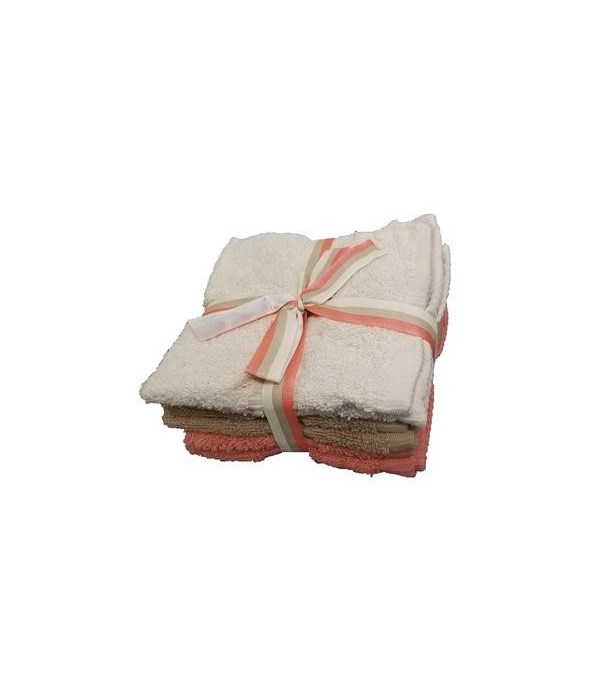 6PK CLEANING CLOTH LIZA- SIZE: 13'' X 13''- 1LINE- ASSORTED COLORS- 6PK X 24 /CS