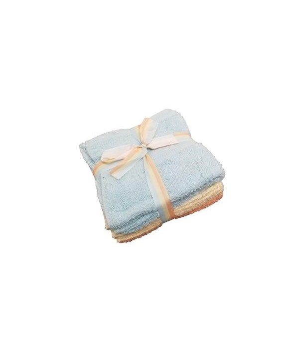 6PK CLEANING CLOTH BRYANT- SIZE: 13'' X 13'' - ASSORTED COLORS- 6PK X 24 /CS