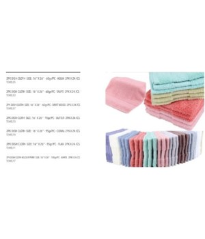 2PK DISH CLOTH- SIZE: 16'' X 26'' - 95gr/PC - BUTTER- 2PK X 24 /CS