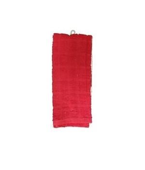 2PK DISH CLOTH VELOUR PRINT- SIZE: 16'' X 26'' - 100gr/PC - (RED 24PC + WHITE 24PC )