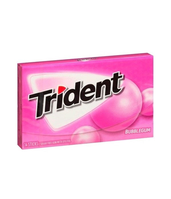 TRIDENT® SF 14CT - BUBBLE GUM- 144/CS