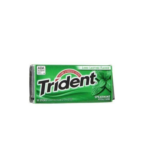 TRIDENT® SF 14CT - SPEARMINT- 144/CS