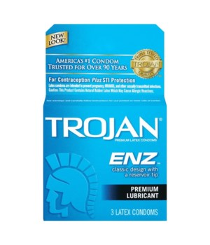 TROJAN® 12/3's ENZ LUBRICATED BLUE 93050/20500214