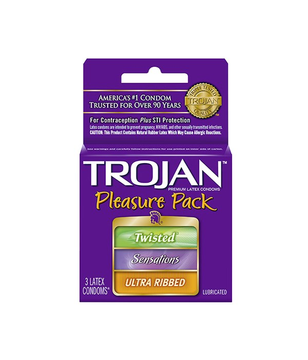 TROJAN® 12/3's PLEASURE PACK 95321/20500217