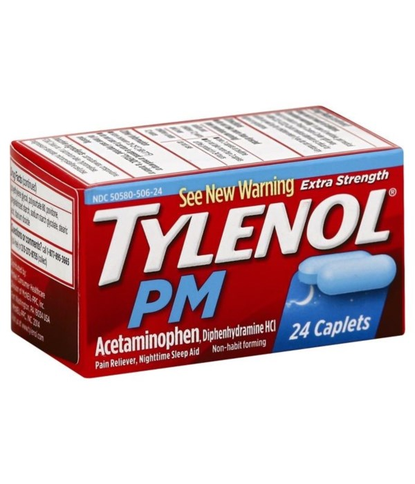 TYLENOL® PM 12/ 24'S CAPLETS