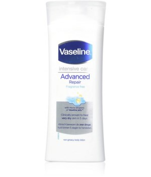 VASELINE® BODY LOTION 400ml- ADVANCED REPAIR FRAGRANCE FREE - 6 PACK