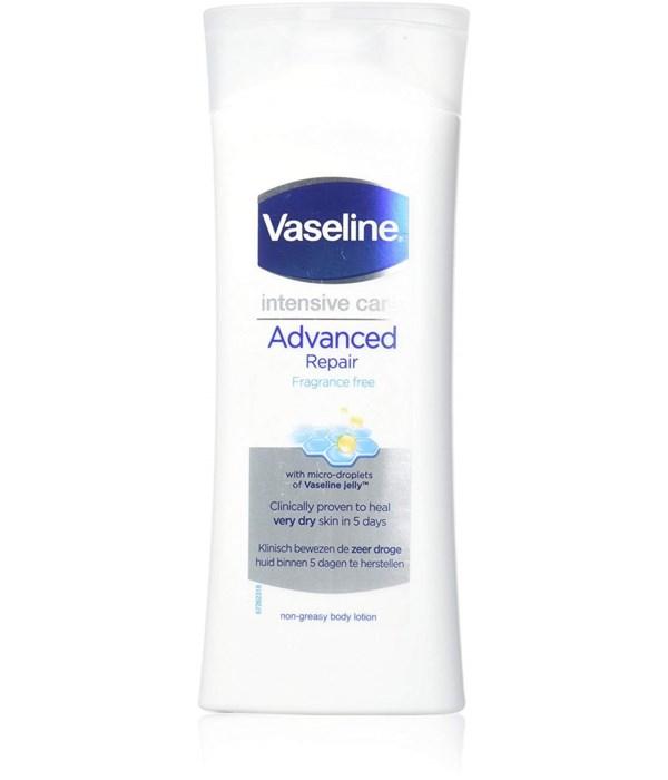 VASELINE® BODY LOTION 400ml- ADVANCED REPAIR FRAGRANCE FREE - 6 PACK