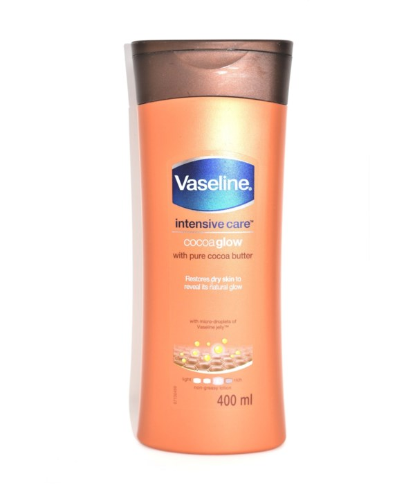 VASELINE® BODY LOTION 400ml- COCOA GLOW - 6/PACK