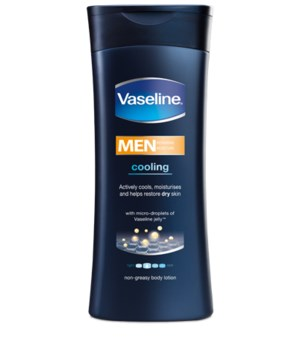 VASELINE® BODY LOTION 400ml- MEN'S COOLING - 6/PACK