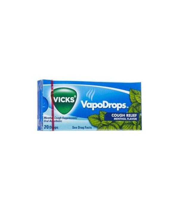 VICKS COUGH DROPS 20 PACKS OF 20 EACH-MENTHOL