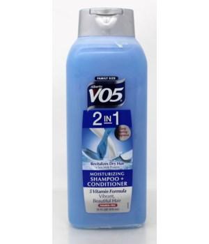 VO5® SHAMPOO/CONDITIONER 33oz - 2-IN-1 MOISTURIZING - 4/CASE