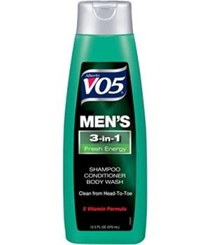 VO5® SH/CD/BW 12.5oz - 3-IN-1 MEN'S FRESH ENERGY - 12/UNIT