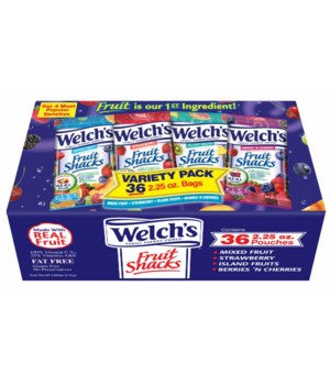WELCH'S® FRUIT SCK 36/2.25oz- VARIETY PACK