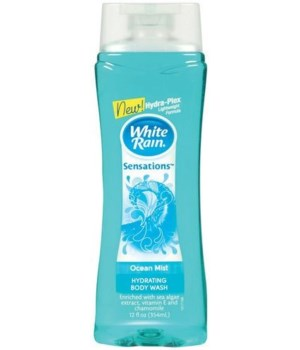 WHITE RAIN® MOISTURIZING BODY WASH  12oz- OCEAN MIST- 6/CS